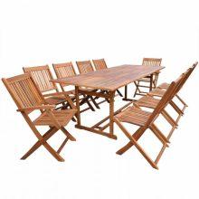VID 10 személyes - 11 részes kerti fa garnitúra - 220 cm asztallal
