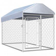 VID kültéri kutyakennel tetővel 200 x 100 x 125 cm