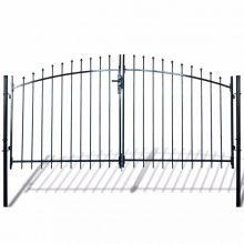 VID dupla ajtós lándzsahegy tetejű kerítéskapu 300 x 200cm