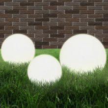 VID 3 db-os LED gömblámpa-szett 20 / 30 / 40 cm