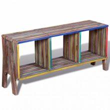 VID Újrahasznosított tíkfa TV állvány, színes