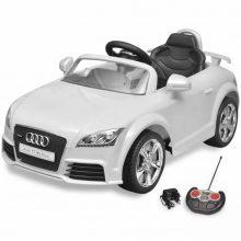 Elektromos kisautó fehér Audi TT RS