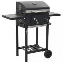 VID fekete színű faszén tüzelésű grillsütő alsó polccal