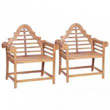 VID Tömör tíkfa kerti szék szett