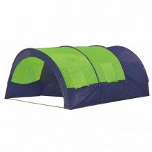 Poliészter kemping sátor 6 személyes Kék- zöld színben