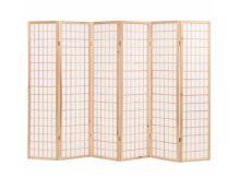 VID 6 paneles, természetes, japán stílusú paraván 240 x 170 cm