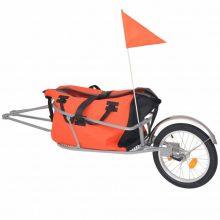 VID Kerékpár-utánfutó narancssárga/fekete táskával
