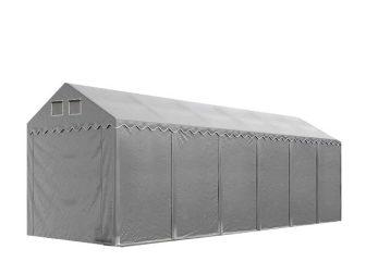 Raktársátor 4x12m professional 2,6m oldalmagassággal, szürke 550g/m2
