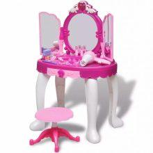 Lányka fésülködőasztal tükörrel + kiegészítőkkel