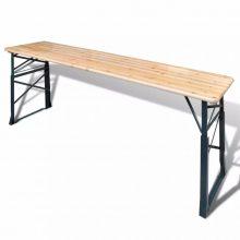 VID Összecsukható fenyőfa söröző asztal