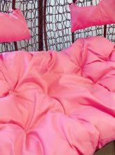 Egyszínű rózsaszín párna kétszemélyes függőfotelekhez