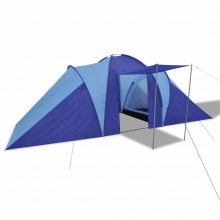 6 személyes kemping sátor Sötétkék/ Világoskék színben
