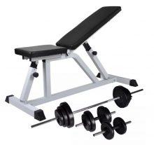 VID edzőpad egykezes és kétkezes súlyzókészlettel 30,5 kg 784647