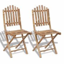 VID 2 db összecsukható bambusz kerti szék