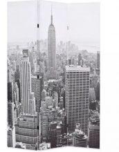 VID paraván 120 x 180 cm New York, fekete-fehér