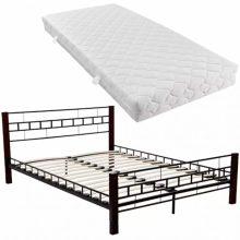 """Fém ágy 140x200 cm """"V3"""", matraccal"""