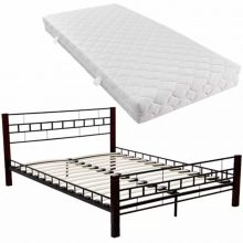 "VID Fém ágy 140x200 cm ""V3"", matraccal"