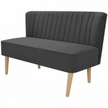 Sötétszürke szövet retro kanapé