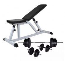 VID edzőpad egykezes és kétkezes súlyzókészlettel 60,5 kg 795298