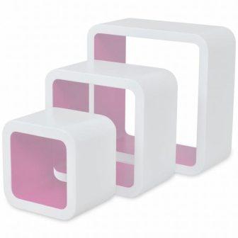"""VID 3 DB-OS POLC SZETT """"MIAMI"""" fehér-rózsaszín"""