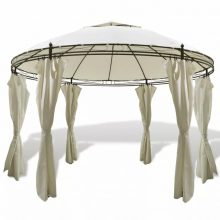 Pavilonos kerti sátor kör alakú