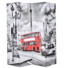 VID fekete/fehér paraván 160 x 180 cm londoni busz