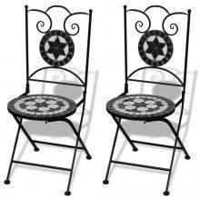 2 db-os fekete / fehér mozaik szék