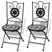 VID 2 db-os fekete / fehér mozaik szék