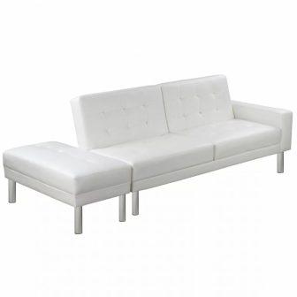 VID Műbőr kanapéágy fehér