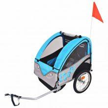 VID Gyerekszállító kerékpár utánfutó - 30 kg teherbírással - kék 810402