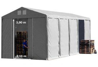 Vario raktársátor 5x10m - 4m oldalmagassággal-bejárat típusa: eltolható