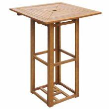 Kültéri akácfa bár asztal [75 x 75 x 110 cm]