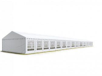 TP Professional deluxe 8x28m-2,6m oldalmagasság, 550g/m2 rendezvénysátor extra vastag acélszerkezettel tűzálló