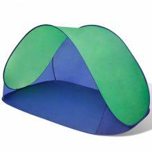 Vízálló tengerparti félsátor kék-zöld színben