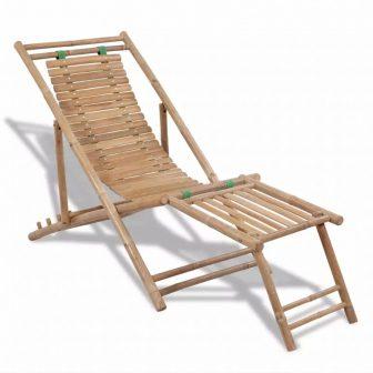 VID Összecsukható bambusz napozóágy 02