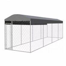 VID kültéri kutyakennel tetővel 8 x 2 m