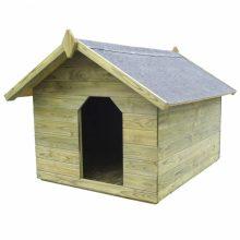 VID impregnált fenyő kerti kutyaház felnyitható tetővel 822982
