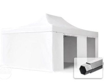 Professional összecsukható sátrak PROFESSIONAL 400g/m2 ponyvával, alumínium szerkezettel, 4 oldalfallal, ablak nélkül - 4x6m fehér