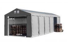 Vario raktársátor 6x12m - 3m oldalmagassággal, tetőablakkal-bejárat típusa: standard