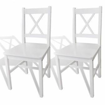 VID 2 db-os fehér fa étkezőszék szett fehér színben