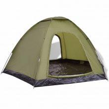 VID 6 személyes kemping sátor zöld színben
