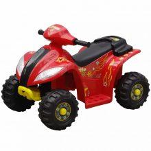 Elektromos motor quad piros és fekete