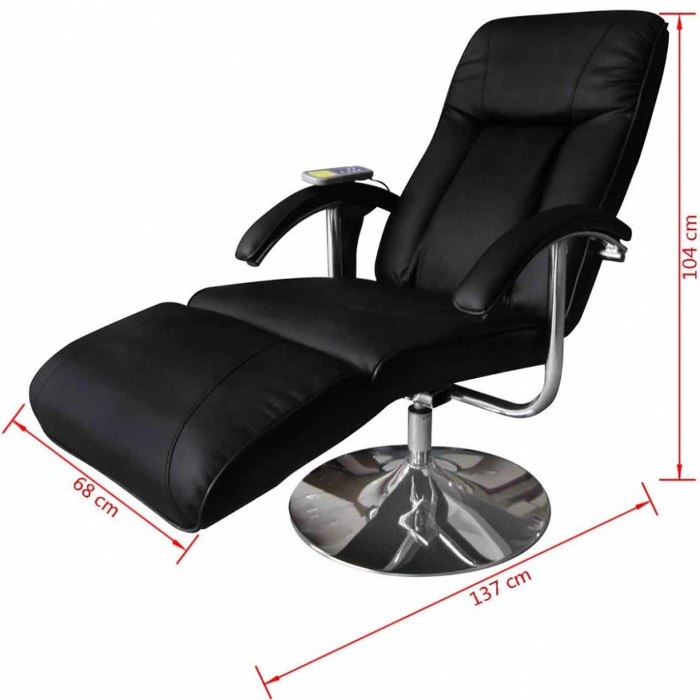 Elektromos fekete masszázsfotel/ tv fotel - Discontmania.hu