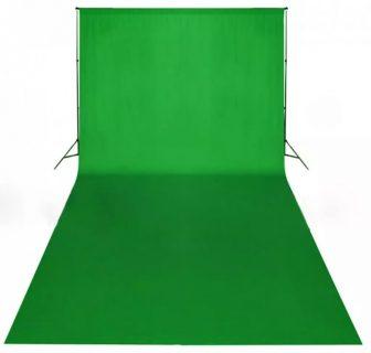 VID Hordozható zöld pamut fotóháttér 600x300 cm