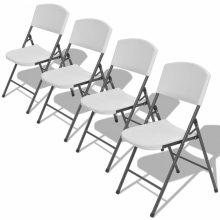 4 db összecsukható kerti szék fehér