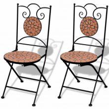 2 db-os terrakotta mozaik szék