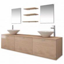 10 részes fürdőszoba bútor szett  színben csapteleppel