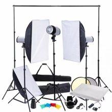 Stúdió felszerelés álvánnyal + 3 softbox