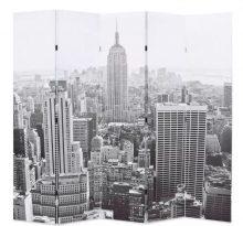 VID paraván 200 x 180 cm New York, fekete-fehér