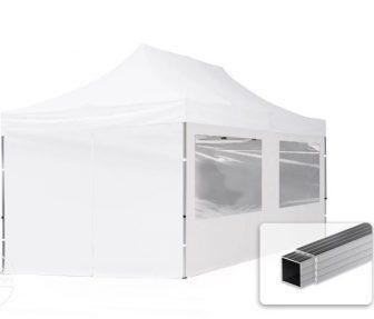Professional összecsukható sátrak ECO 300 g/m2 ponyvával, alumínium szerkezettel, 4 oldalfallal - 3x6m fehér